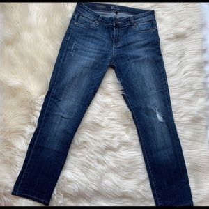 KUT from the Kloth distressed denim jeans